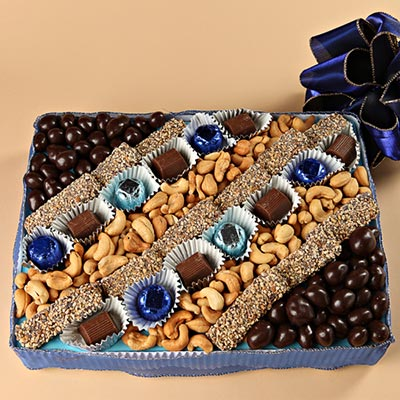 Blue Medium Party Platter
